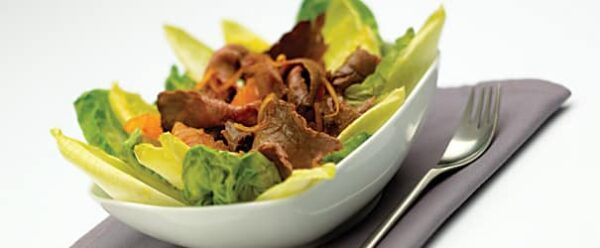 Beef Salad with Warm Orange Dressing