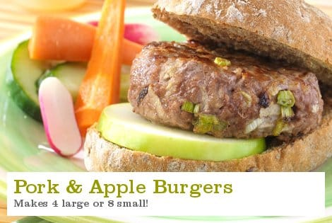 Pork and Apple Burgers - S Collins & Son