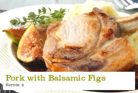 Pork with Balsamic Figs