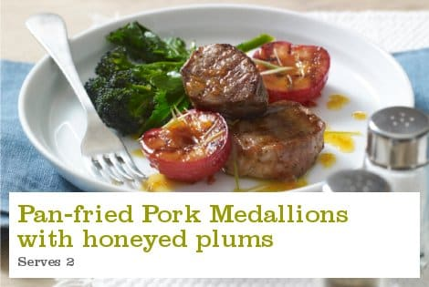 Pan-fried Pork Medallions with Honeyed Plums