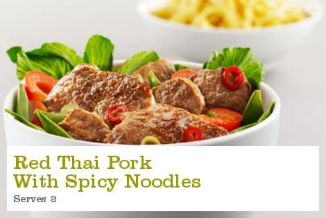 Red Thai Pork with Spicy Noodles