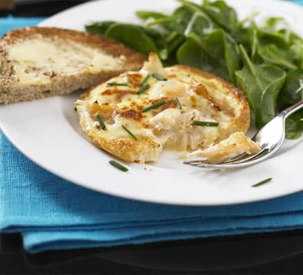 Mini smoked haddock omelettes