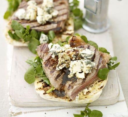 Steak & Stilton bruschetta