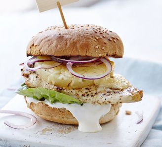 Cajun chicken & pineapple burger