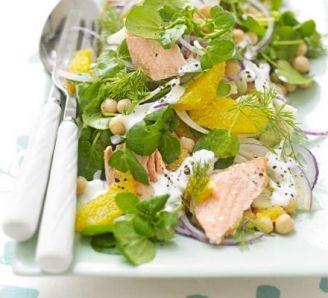 Salmon, fennel & orange salad