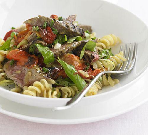 Gluten Free BBQ Beef and Pasta salad