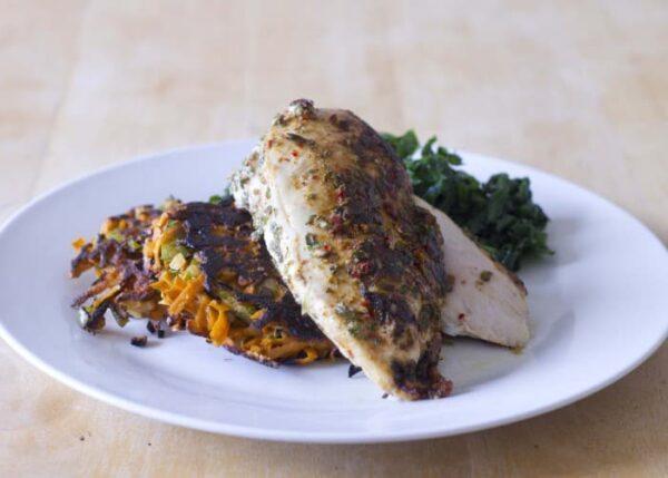 Piri Piri Chicken & Sweet Potato Fritters