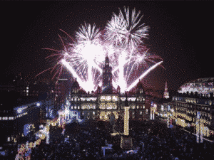 new year george square