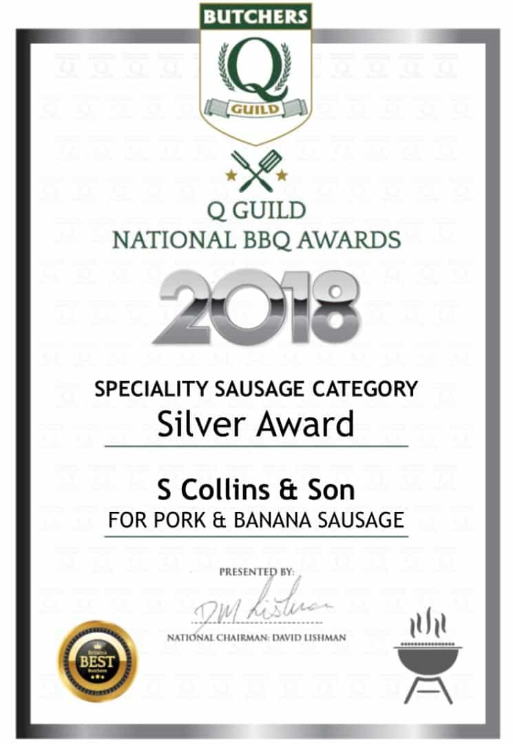 Pork & Banana Sausage: Q Guild National BBQ Awards 2018