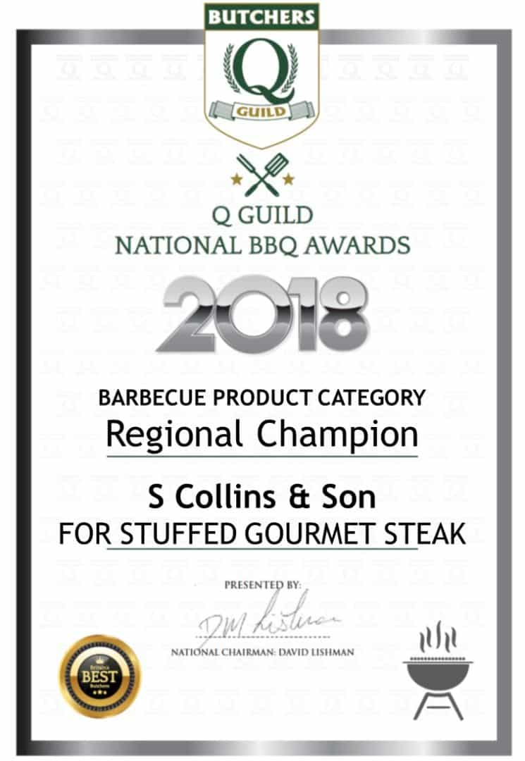 Stuffed Gourmet Steak: Q Guild National BBQ Awards 2018