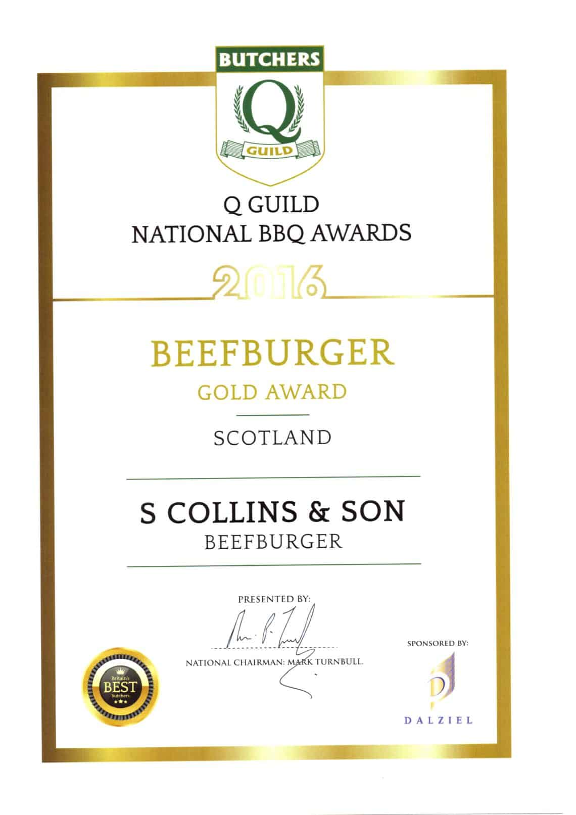 National BBQ Awards 2016: BBQ Beef Burger