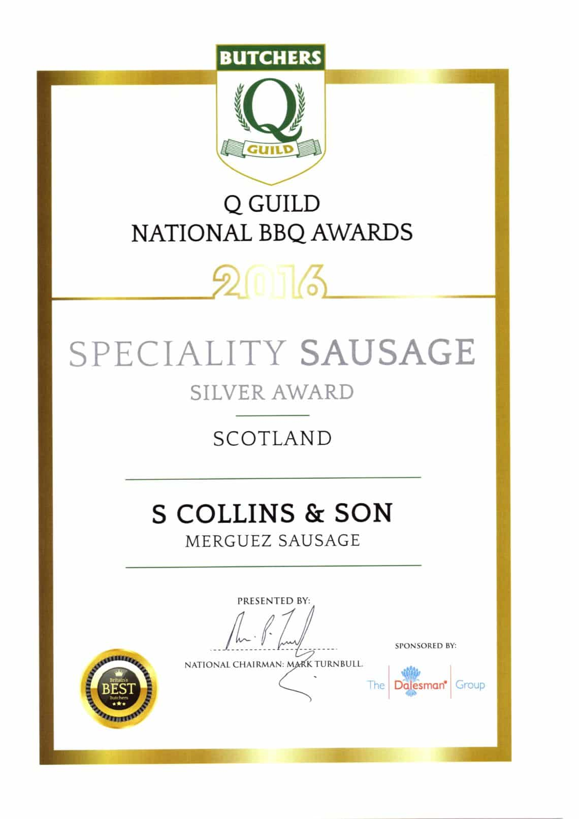 National BBQ Awards 2016: BBQ Merguez Sausage