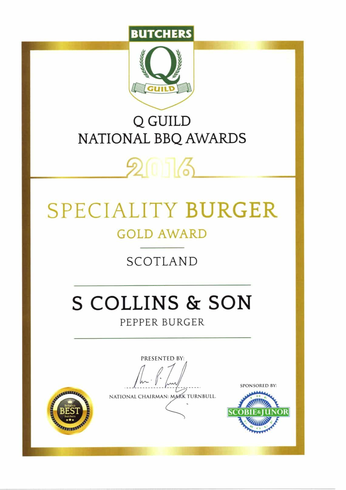 National BBQ Awards 2016: BBQ Pepper Burger