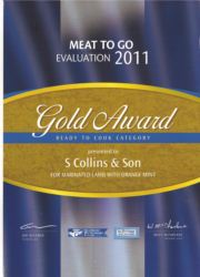 Meat to Go Awards 2011