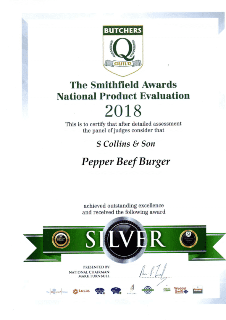 Pepper Burger: Smithfield Awards 2018