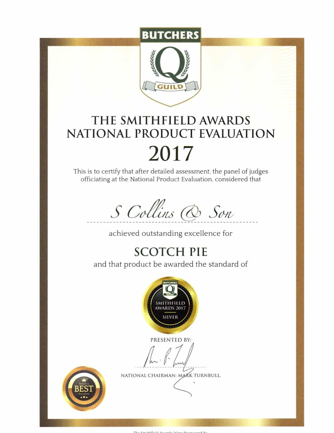 Scotch Pie: Smithfield Awards 2017