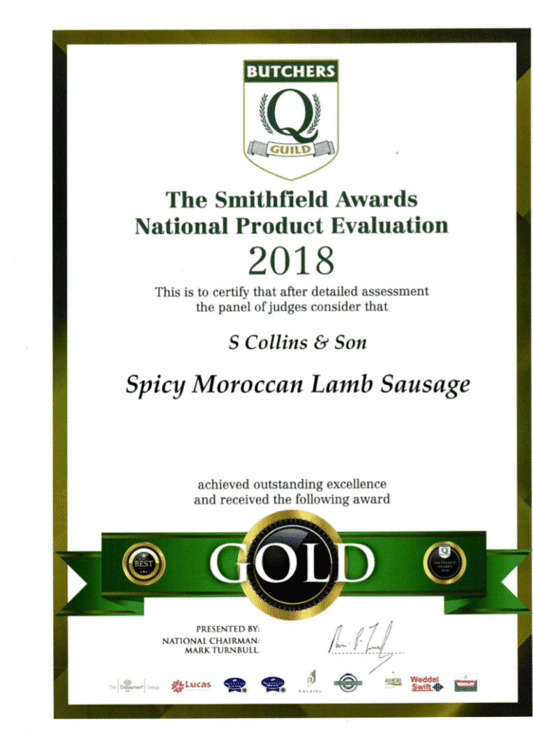 Spicy Moroccan Lamb Sausage: Smithfield