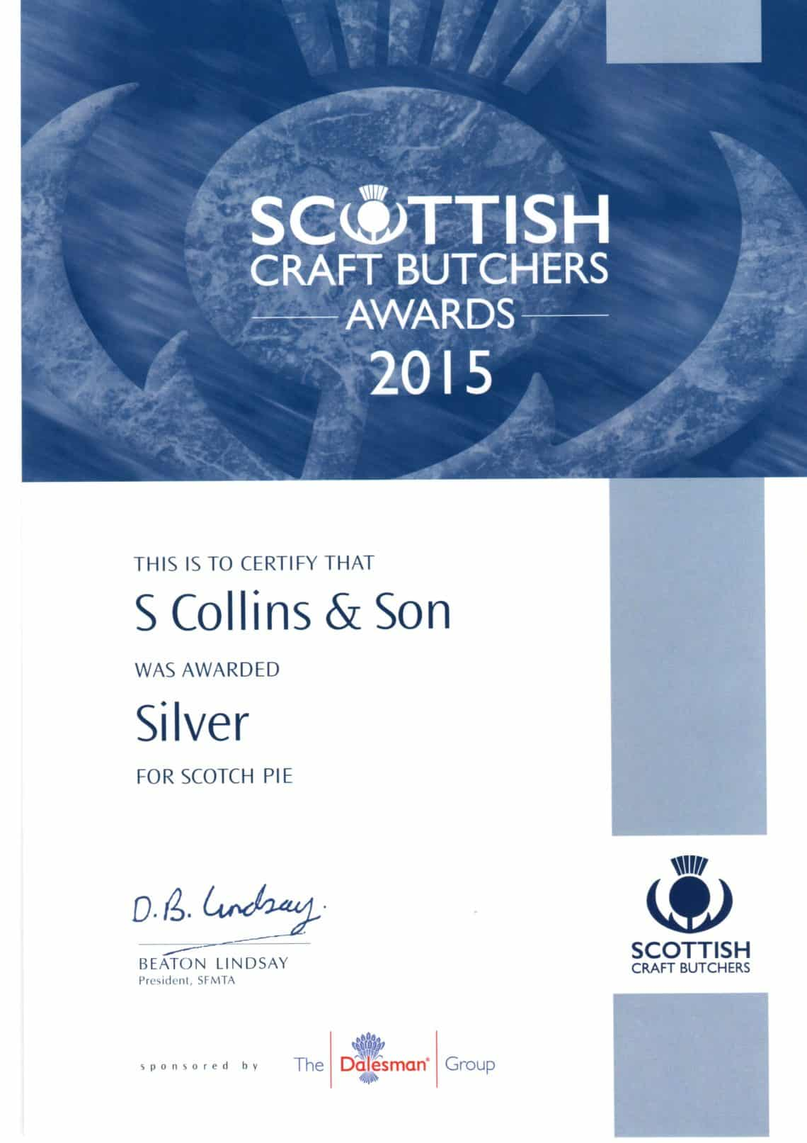 Scottish Craft Butchers Awards: 2015