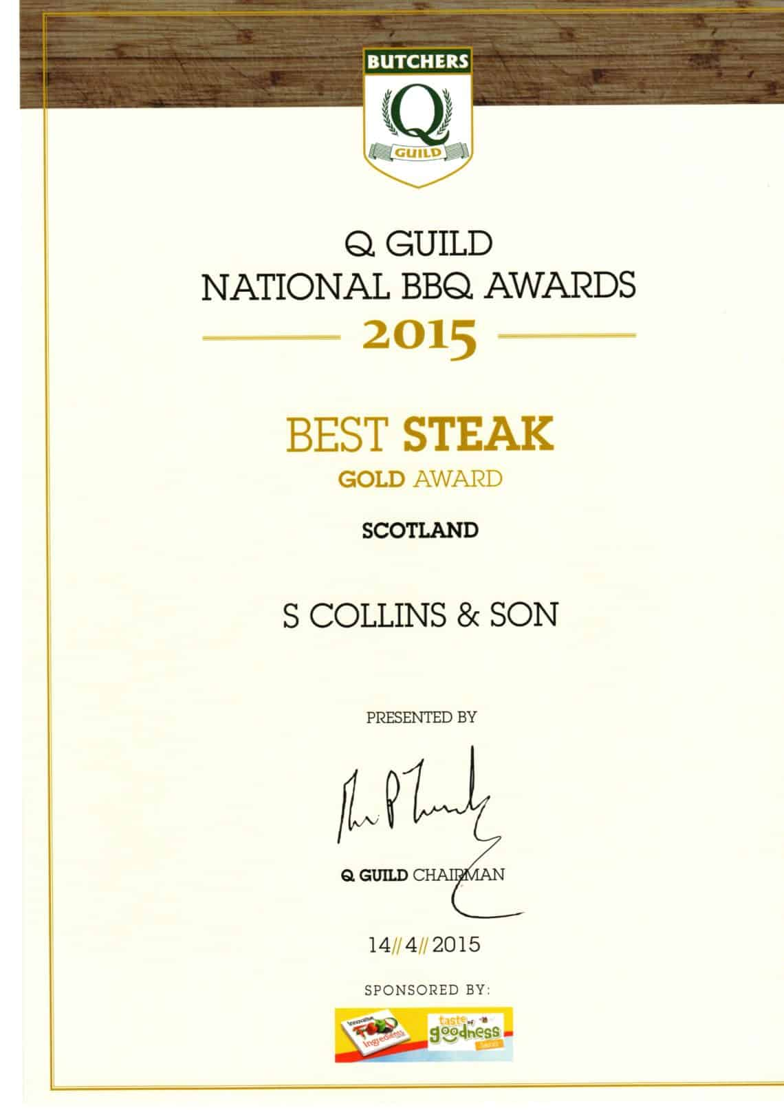 National BBQ Awards 2015: Best Steak