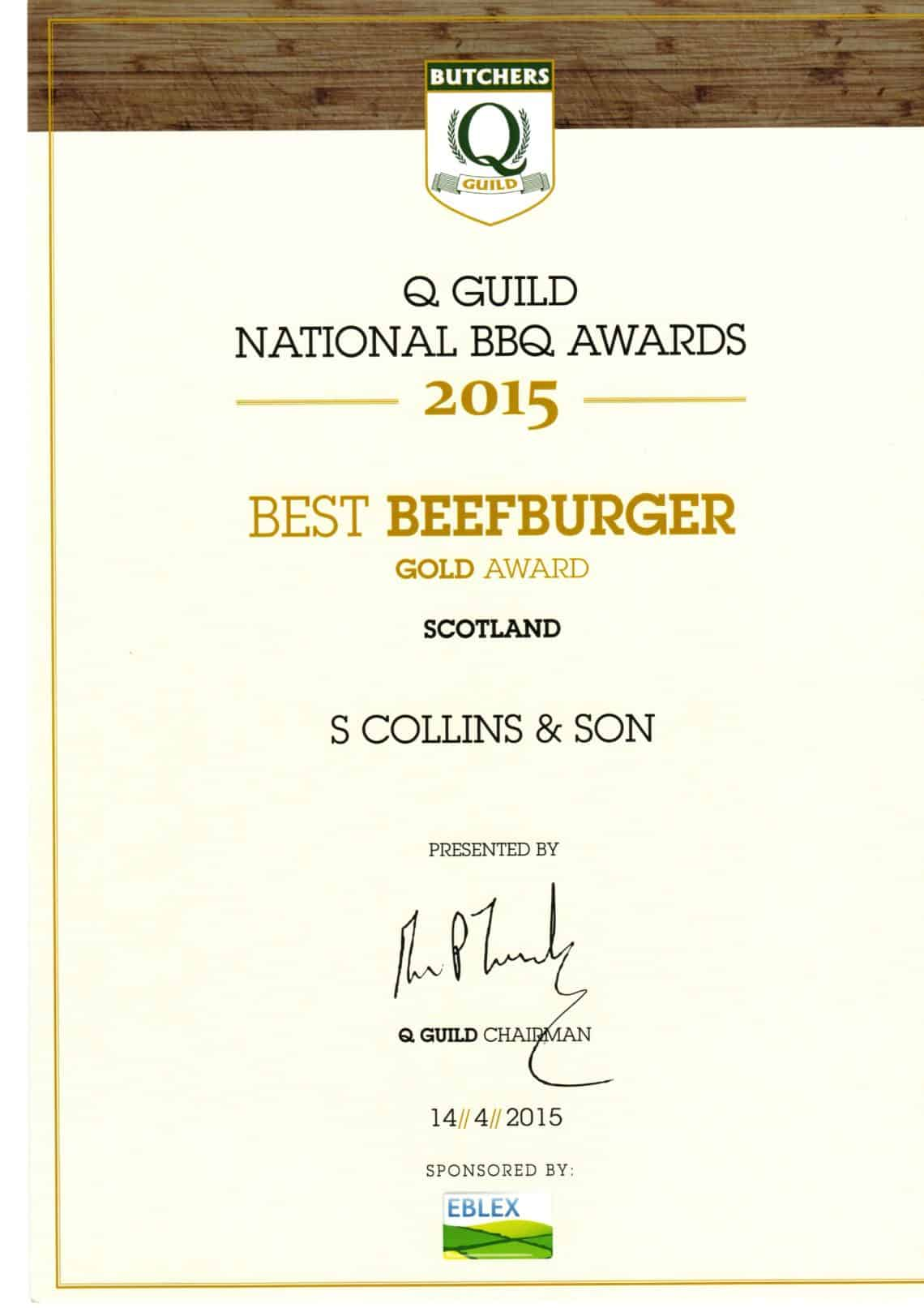 National BBQ Awards 2015: Best Beefburger