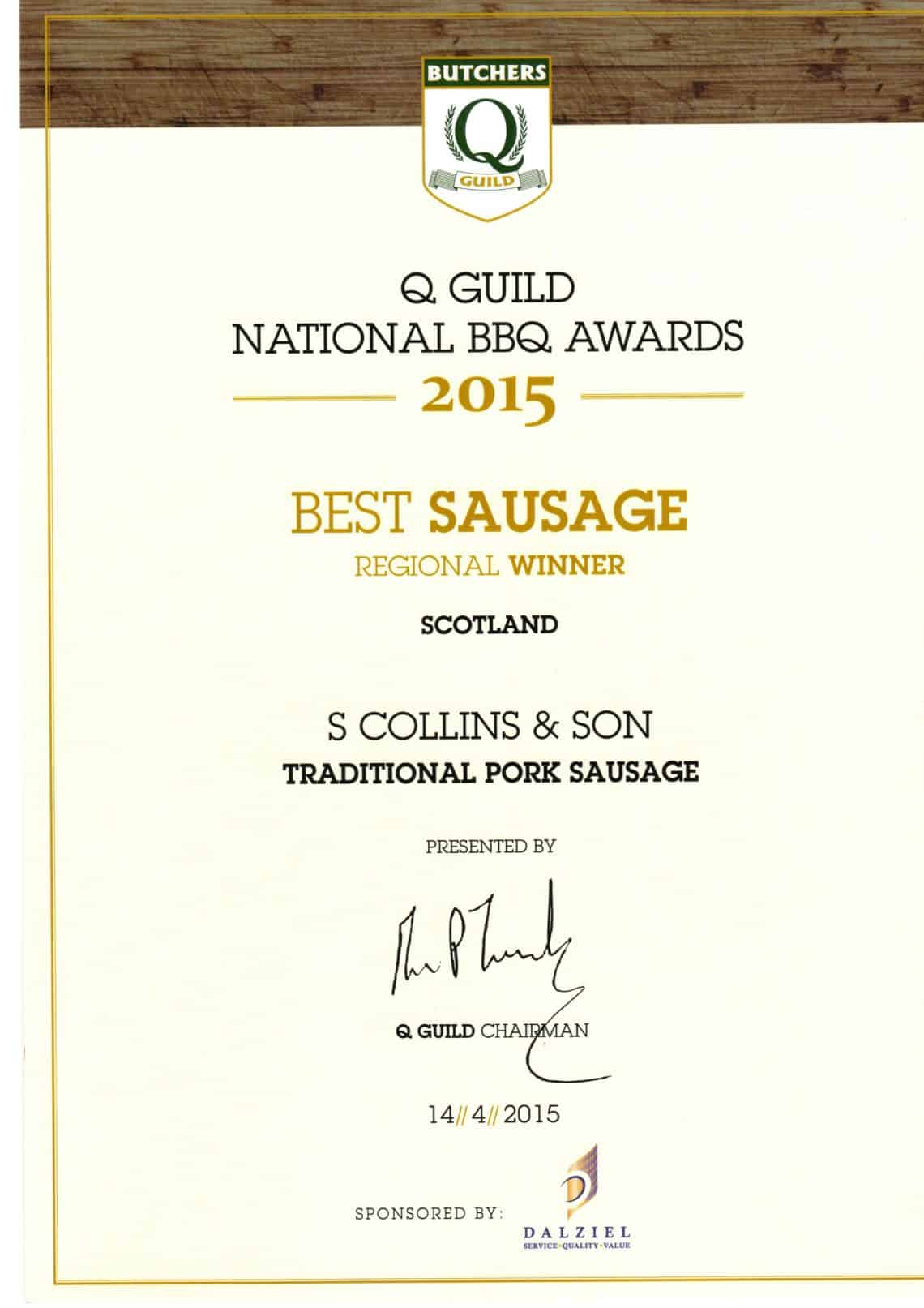 National BBQ Awards 2015: Best Sausage