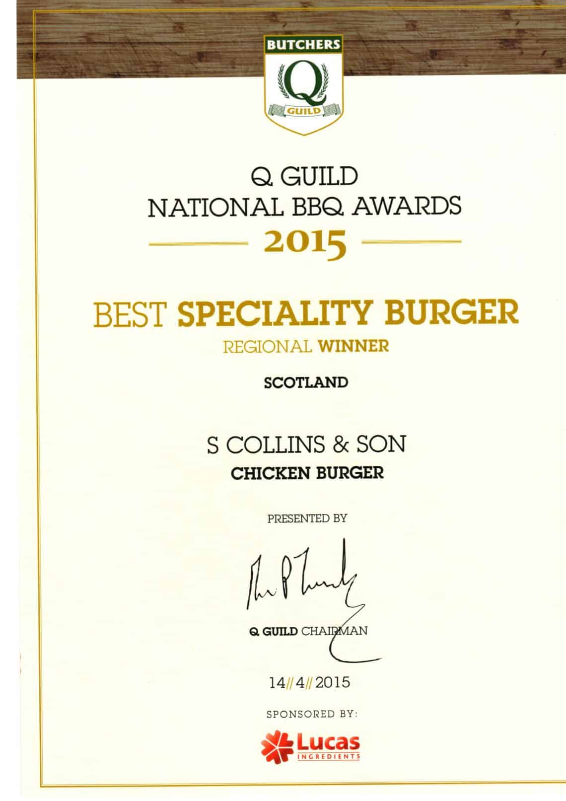National BBQ Awards 2015: Best Specialty Burger