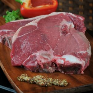 The classic Big Steak full of marbling. Cut from dry aged beef.