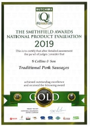 Traditional Pork Sausages: Smithfield Awards 2019