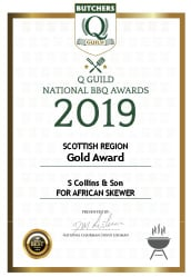 African Skewer: Q Guild National BBQ Awards 2019