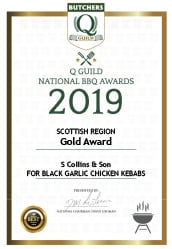 Black Garlic Chicken Kebabs: Q Guild National BBQ Awards 2019