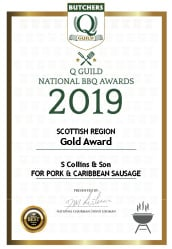 Pork &amp Caribbean Sausage: Q Guild National BBQ Awards 2019