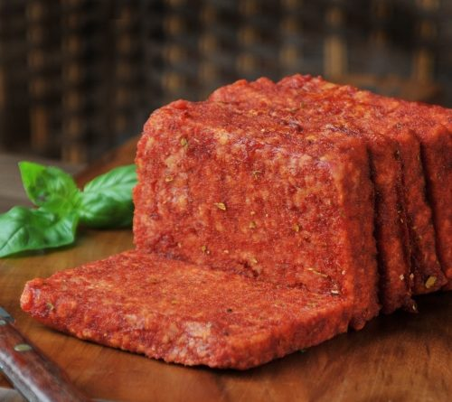 Traditional beef slice sausage cut a little thicker with an italian herb coating.
