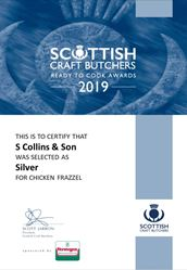 Chicken Frazzel: Scottish Craft Butchers - Ready to Cook Awards 2019