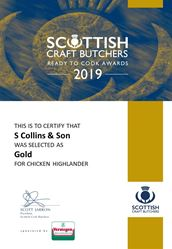 Chicken Highlanders: Scottish Craft Butchers - Ready to Cook Awards 2019