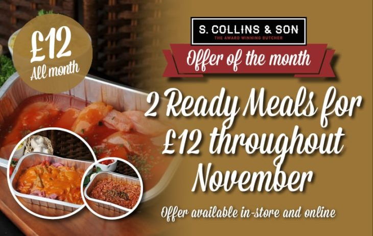 2 Ready Meals for £12
