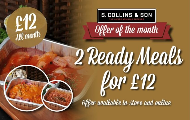 2 for £12 on Ready Meals