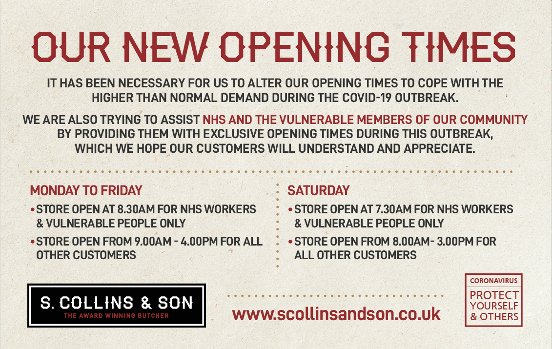 Our New Opening Times