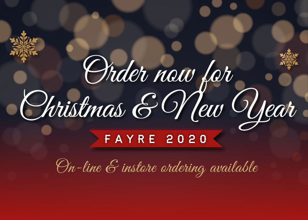 Order now for Christmas & New Year